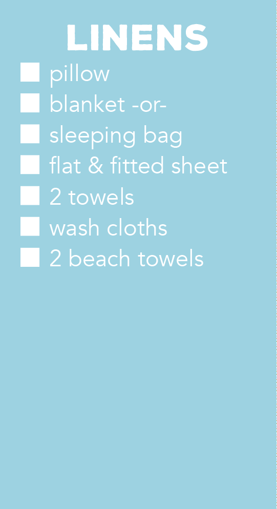 Linens list